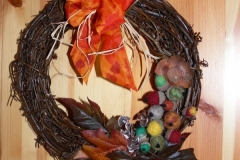 Herbstlicher Türkranz