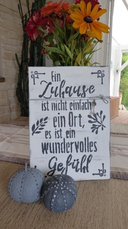 Spruchschild Zuhause