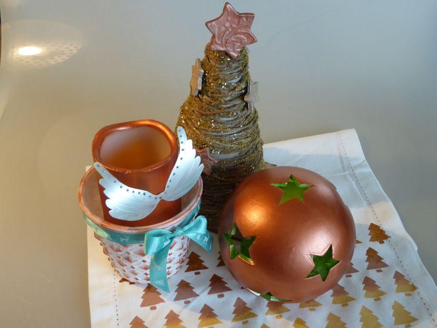 Weihnachtliche Dekoideen in Kupfer