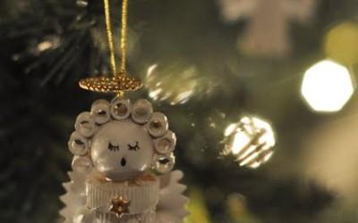 Weihnachtsschmuck aus Nudeln basteln
