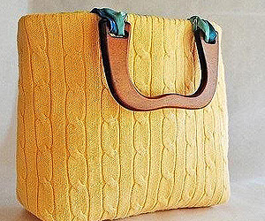 Recycling-Idee: Aus einem Pullover eine Tasche nähen